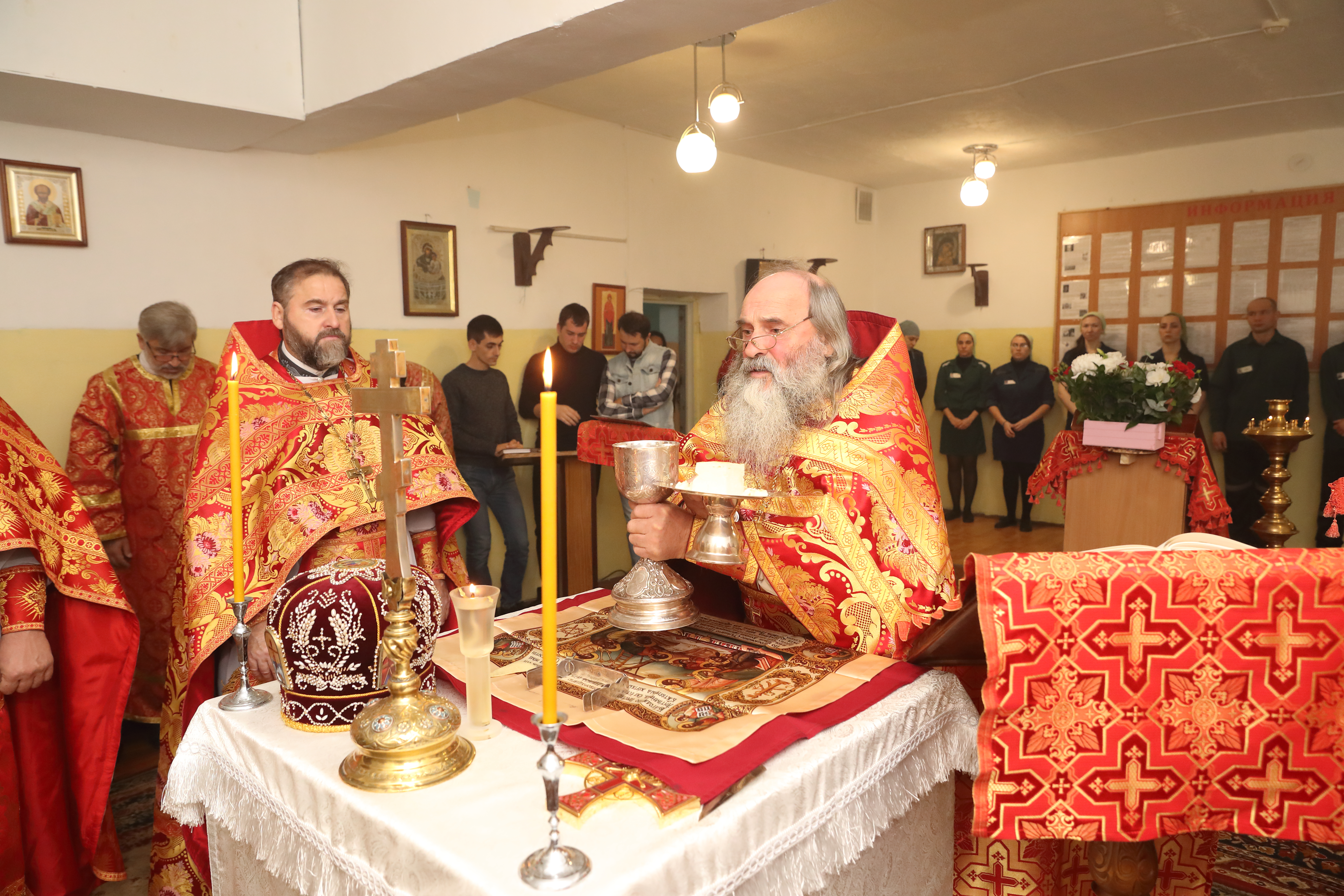 В следственном изоляторе № 1 г. Ростова-на-Дону совершена Божественная литургия.
