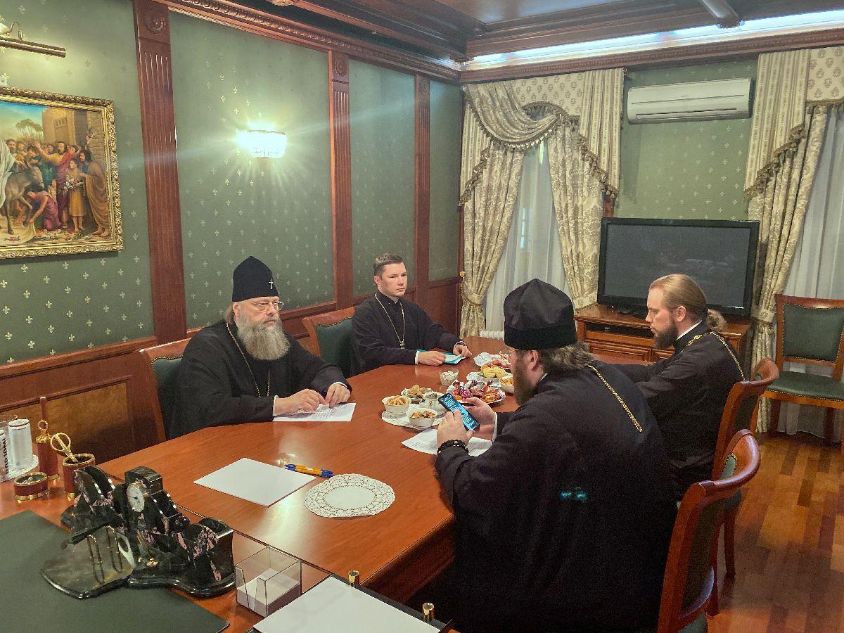 Митрополит Меркурий встретился с председателем Финансово-хозяйственного управления